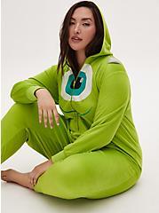 Disney Monster's Inc. Mike Wazowski Lime Green Fleece Onesie , LIME, alternate
