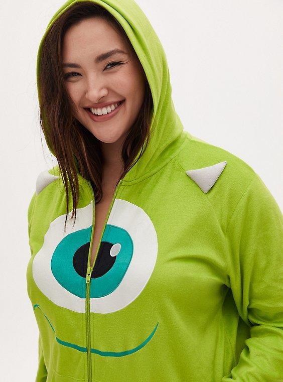 Disney Monster's Inc. Mike Wazowski Lime Green Fleece Onesie , , hi-res