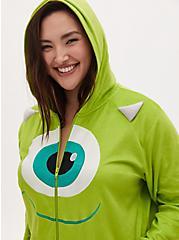 Disney Monster's Inc. Mike Wazowski Lime Green Fleece Onesie , LIME, hi-res