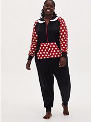 Disney Minnie Mouse Polka Dot Fleece Onesie , MULTI, hi-res
