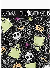 Plus Size Disney The Nightmare Before Christmas Oogie Boogie Black Cotton High Waist Panty , MULTI, alternate