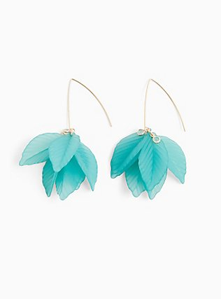 Turquoise Pedal Earrings, , alternate
