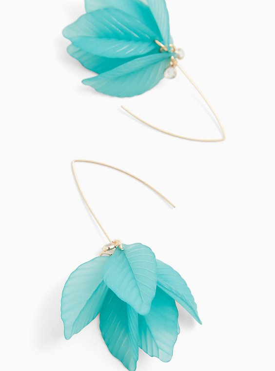 Turquoise Pedal Earrings, , hi-res