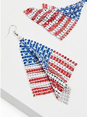 American Flag Statement Earrings , , alternate
