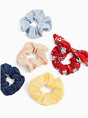 Red Floral Bow Hair Tie Pack - Pack of 5, , alternate