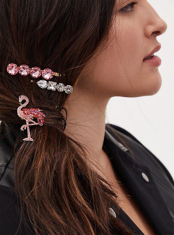 Flamingo Hair Pin Pack - Pack of 3, , hi-res
