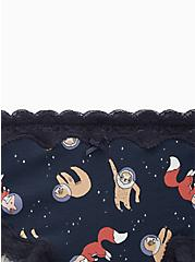 Navy Astronaut Animals Wide Lace Cotton Cheeky Panty, NEW ASTRO ANIMALS, alternate