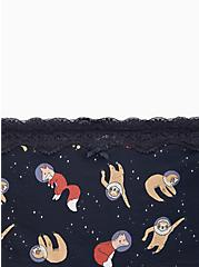 Astronaut Animals Blue Lace Cotton Boy Short Panty, NEW ASTRO ANIMALS, alternate