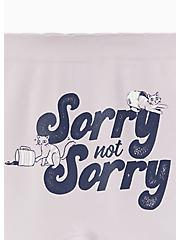 Sorry Not Sorry Cat Lilac Purple Seamless Boyshort Panty , SORRY NOT SORRY, alternate