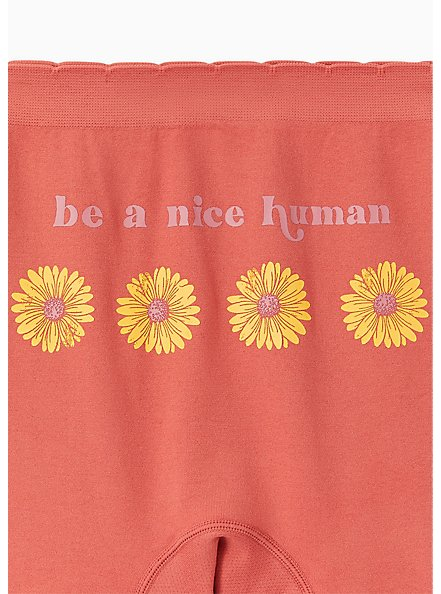 Be A Nice Human Daisy Dusty Orange Seamless Boyshort Panty , BE A NICE HUMAN, alternate