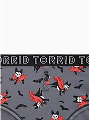 Torrid Logo Dark Slate Grey Vampire Pup Cotton Henley Cheeky Panty , VAMPIRE PUPS, alternate
