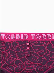 Torrid Logo Purple Speech Bubbles Cotton Cheeky Panty, SPEECH BUBBLES, alternate