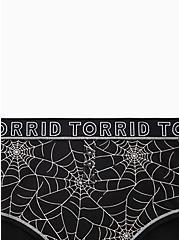 Torrid Logo Black Spider Web Cotton Henley Cheeky Panty , CAUGHT IN A WEB, alternate