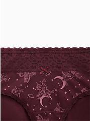 Unicorn Skies Burgundy Wide Lace Cotton Cheeky Panty, UNICORN SKIES, alternate