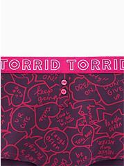 Torrid Logo Speech Bubbles Cotton Boyshort Panty, SPEECH BUBBLES, alternate