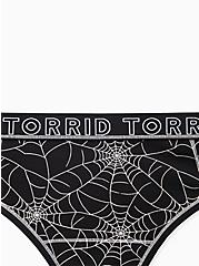 Torrid Logo Black Spider Web Cotton Thong Panty , CAUGHT IN A WEB, alternate