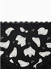 Black & White Ghost Cotton High Waist  Panty, GHOSTLY, alternate