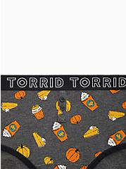 Torrid Logo Charcoal Grey Pumpkin Pie Cotton Henley Cheeky Panty , PUMPKIN PIE, alternate