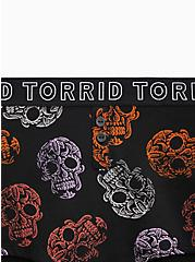 Torrid Logo Festive Skulls Black Cotton Boy Short Panty, FESTIVE SKULLS, alternate
