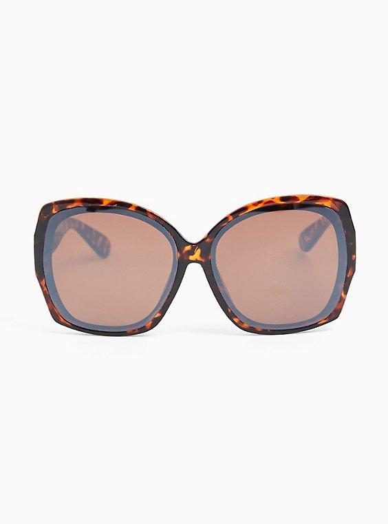 Tortoiseshell Oversized Square Sunglasses, , hi-res