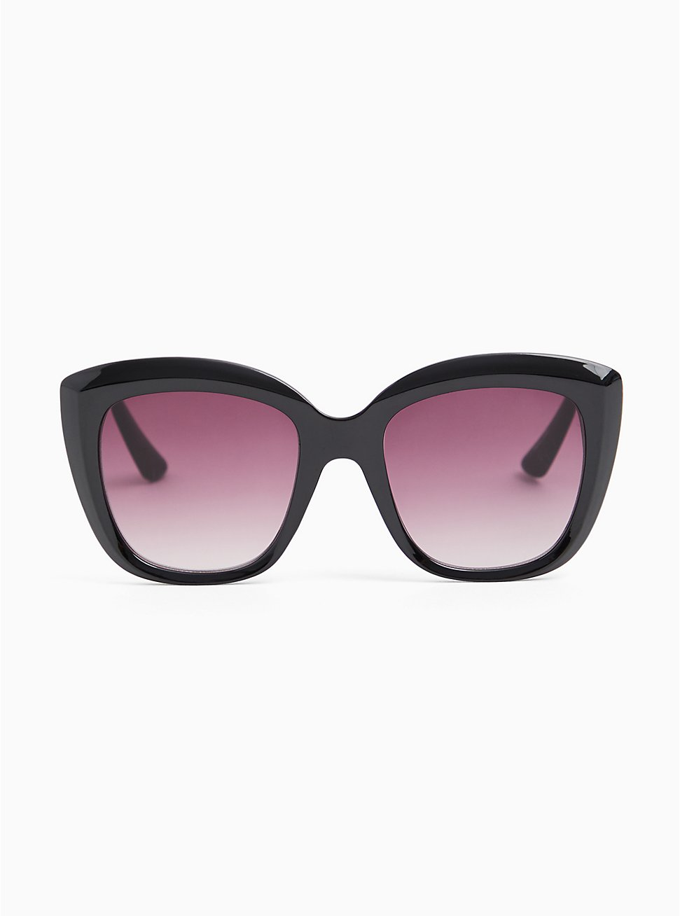 Black Square Cat Eye Sunglasses, , hi-res