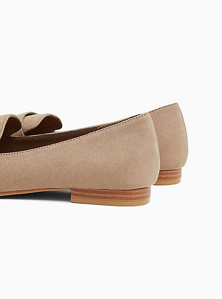 Taupe Faux Suede Loafer (WW), TAN/BEIGE, alternate