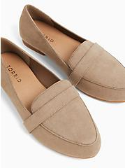 Taupe Faux Suede Loafer (WW), TAN/BEIGE, hi-res