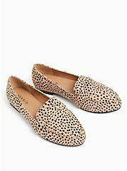 Cheetah Faux Suede Loafer (WW), BROWN, alternate