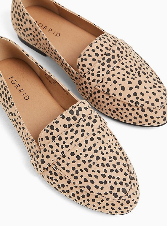 Cheetah Faux Suede Loafer (WW), , hi-res
