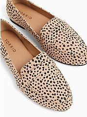 Cheetah Faux Suede Loafer (WW), BROWN, hi-res