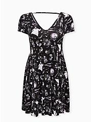 Disney The Nightmare Before Christmas Character Black Mini Trapeze Dress, MULTI, hi-res
