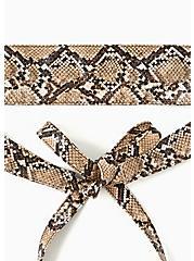 Snakeskin Faux Leather Wrap Belt, MULTI, alternate