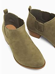 Light Olive Green Faux Suede Chelsea Ankle Boot (WW), OLIVE, alternate