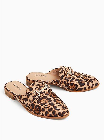 Leopard Faux Suede Loafer Mule (WW), ANIMAL, alternate