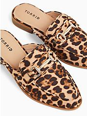 Leopard Faux Suede Loafer Mule (WW), ANIMAL, hi-res