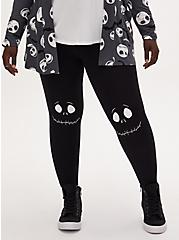 Disney The Nightmare Before Christmas Jack Skellington Face Crop Legging, DEEP BLACK, hi-res