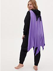 Disney Sleeping Beauty Maleficent Fleece Onesie with Cape , DEEP BLACK, alternate