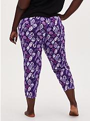 Plus Size Disney Villain Purple Drawstring Crop Sleep Pant , MULTI, alternate