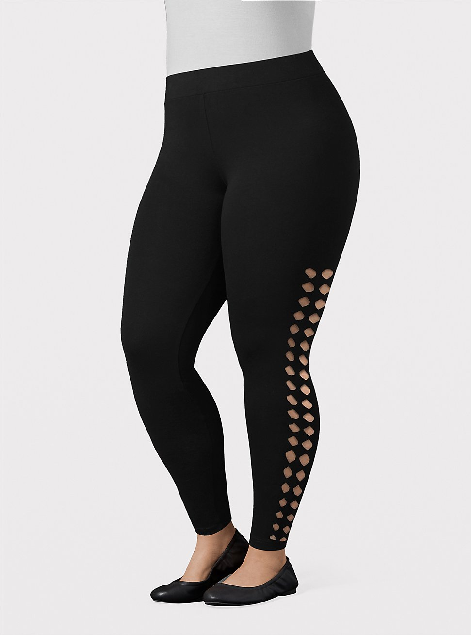 Premium Legging - Diamond Cutout Black, BLACK, hi-res