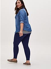 Plus Size Premium Legging - Navy , BLUE, hi-res