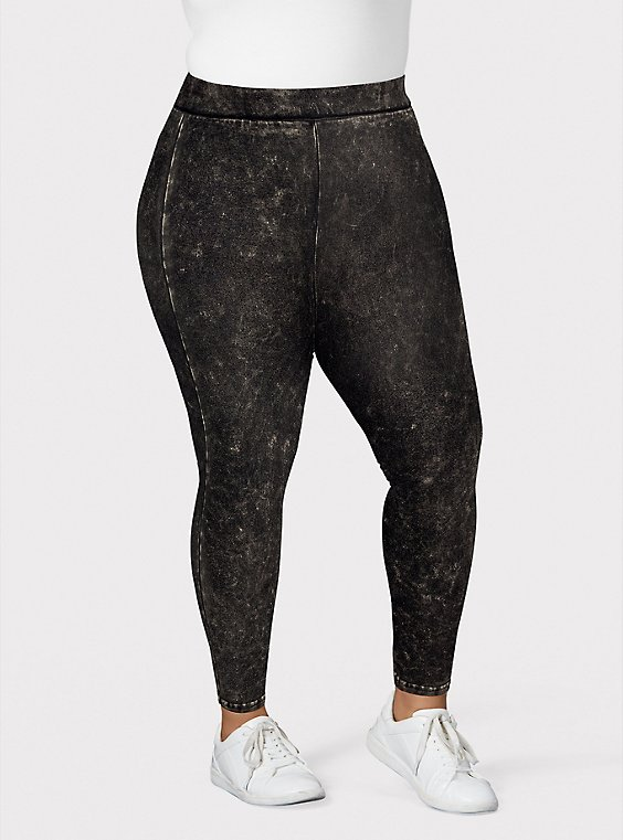 Premium Legging - Mineral Wash Black, , hi-res