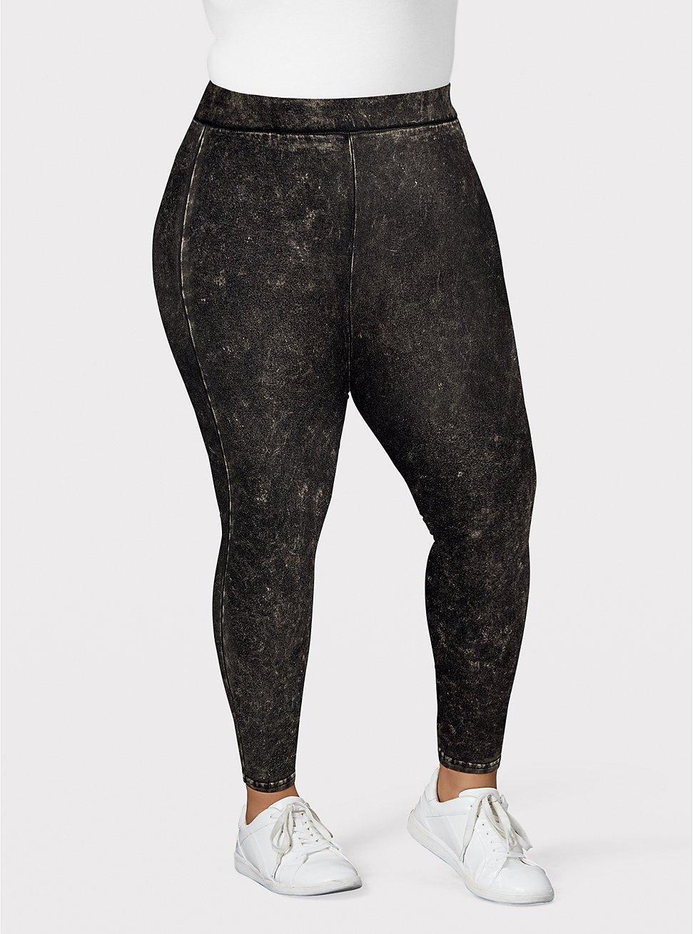 Premium Legging - Mineral Wash Black, BLACK, hi-res