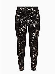 Premium Legging - Marble Grey Foil & Black, MULTI, hi-res
