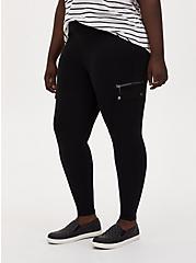 Cargo Platinum Legging – Ponte Black, BLACK, alternate