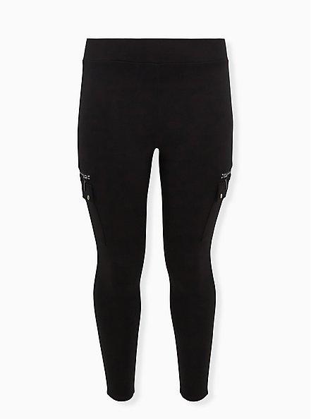 Cargo Platinum Legging – Ponte Black, BLACK, hi-res