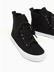 Black Canvas High-Top Sneaker (WW), BLACK, alternate