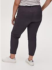 Crop Utility Pant - Poplin Dark Slate Grey, GREY, alternate