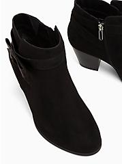 Black Faux Suede Side Bow Bootie (WW), BLACK, alternate