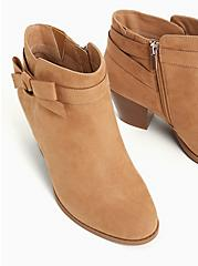 Beige Faux Suede Side Bow Bootie (WW), TAN/BEIGE, alternate