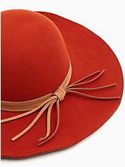 Brick Red Round Floppy Hat, RED, alternate